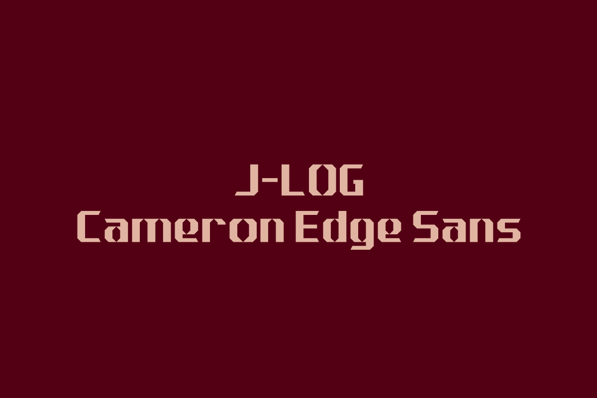 Print on Demand: J-LOG Cameron Edge Sans Serif Font By jlog3K