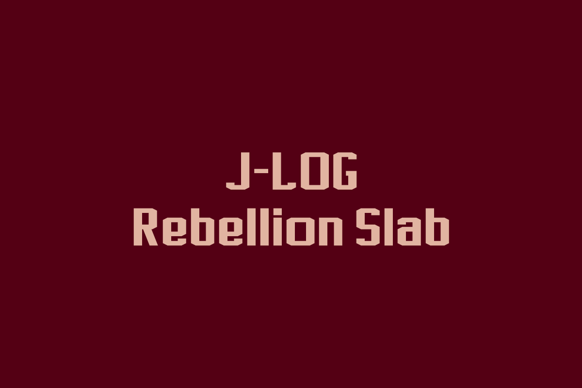Print on Demand: J-LOG Rebellion Slab Slab Serif Font By jlog3K
