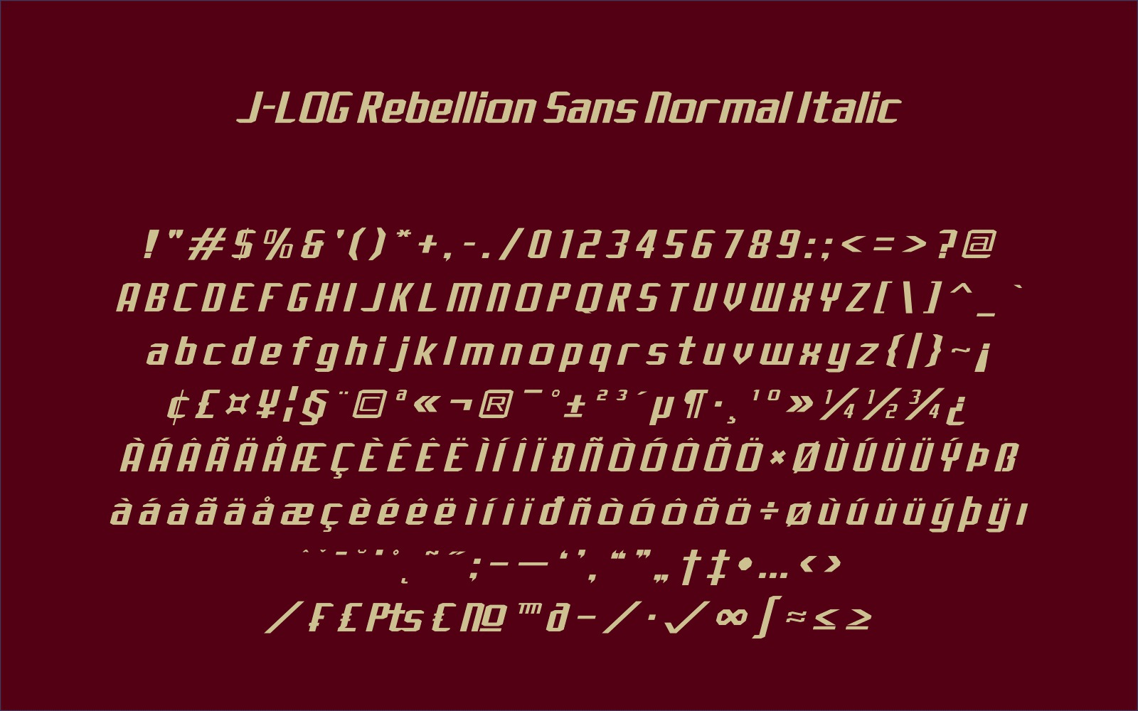 Print on Demand: J-LOG Rebellion Sans Serif Font By jlog3K - Image 3