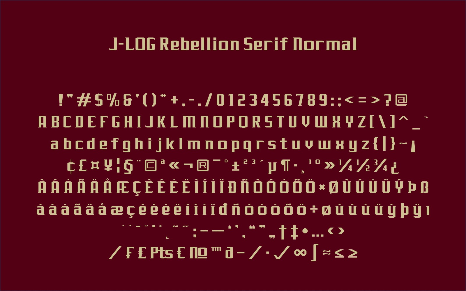 Print on Demand: J-LOG Rebellion Sans Serif Font By jlog3K - Image 6