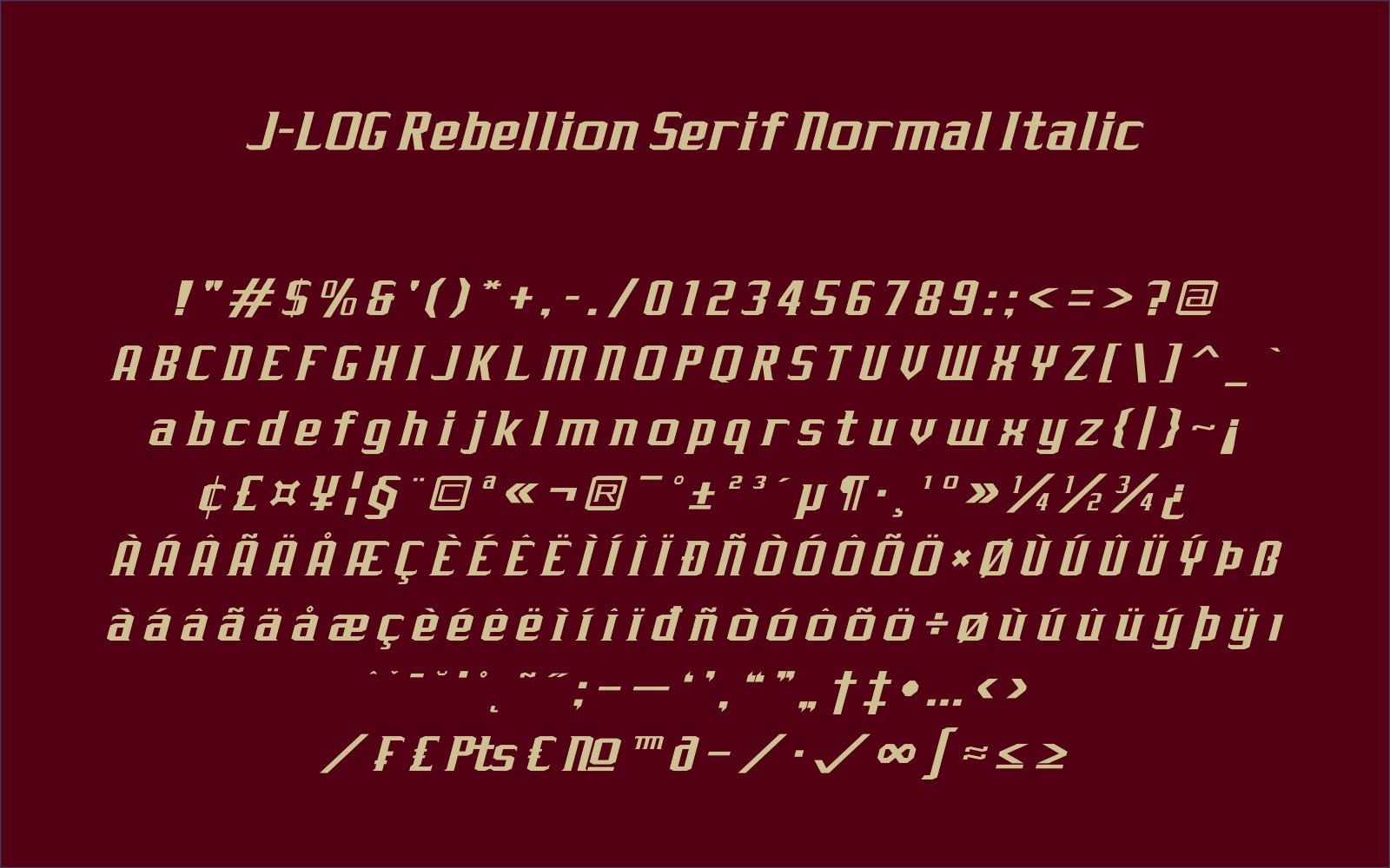 Print on Demand: J-LOG Rebellion Sans Serif Font By jlog3K - Image 7