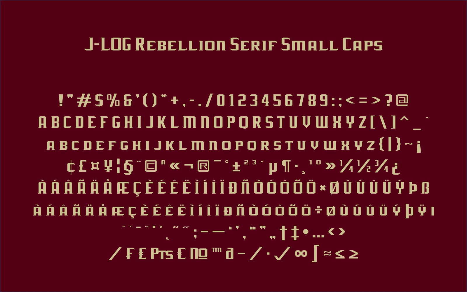 Print on Demand: J-LOG Rebellion Sans Serif Font By jlog3K - Image 8