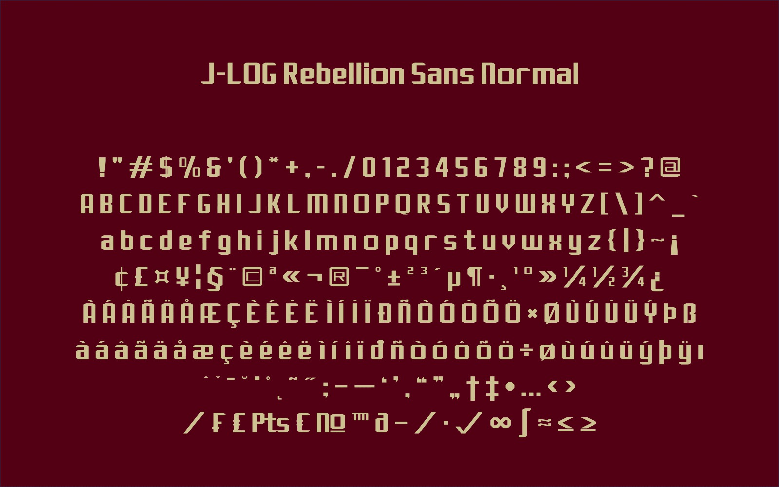 Print on Demand: J-LOG Rebellion Sans Serif Font By jlog3K - Image 2
