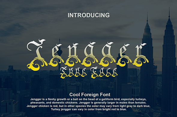 Print on Demand: Jengger Decorative Font By Gblack Id