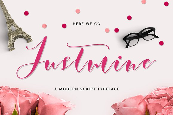 Print on Demand: Justmine Script & Handwritten Font By No Gravity Type - Image 1