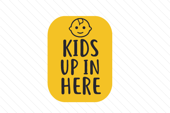 Kids Up in Here Family Car Craft Cut File By Creative Fabrica Crafts