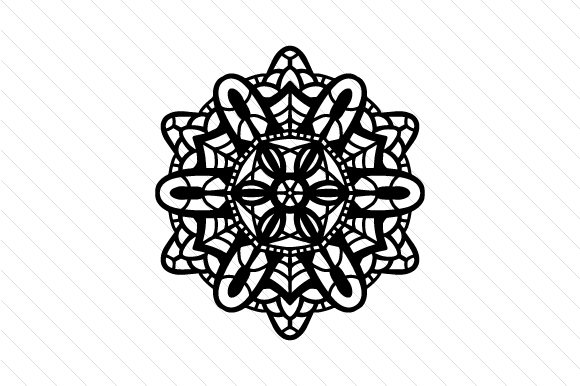 Download Free Lace Doily Patterned Mandala Svg Cut File By Creative Fabrica for Cricut Explore, Silhouette and other cutting machines.