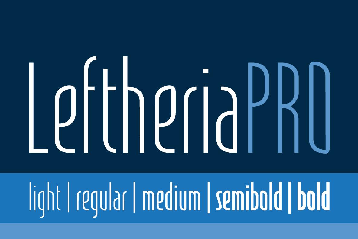 Print on Demand: LeftheriaPRO Sans Serif Font By Cort9