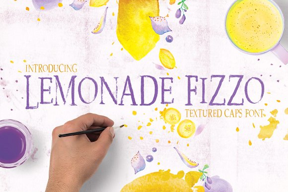 Print on Demand: Lemonade Fizzo Display Font By Creativeqube Design