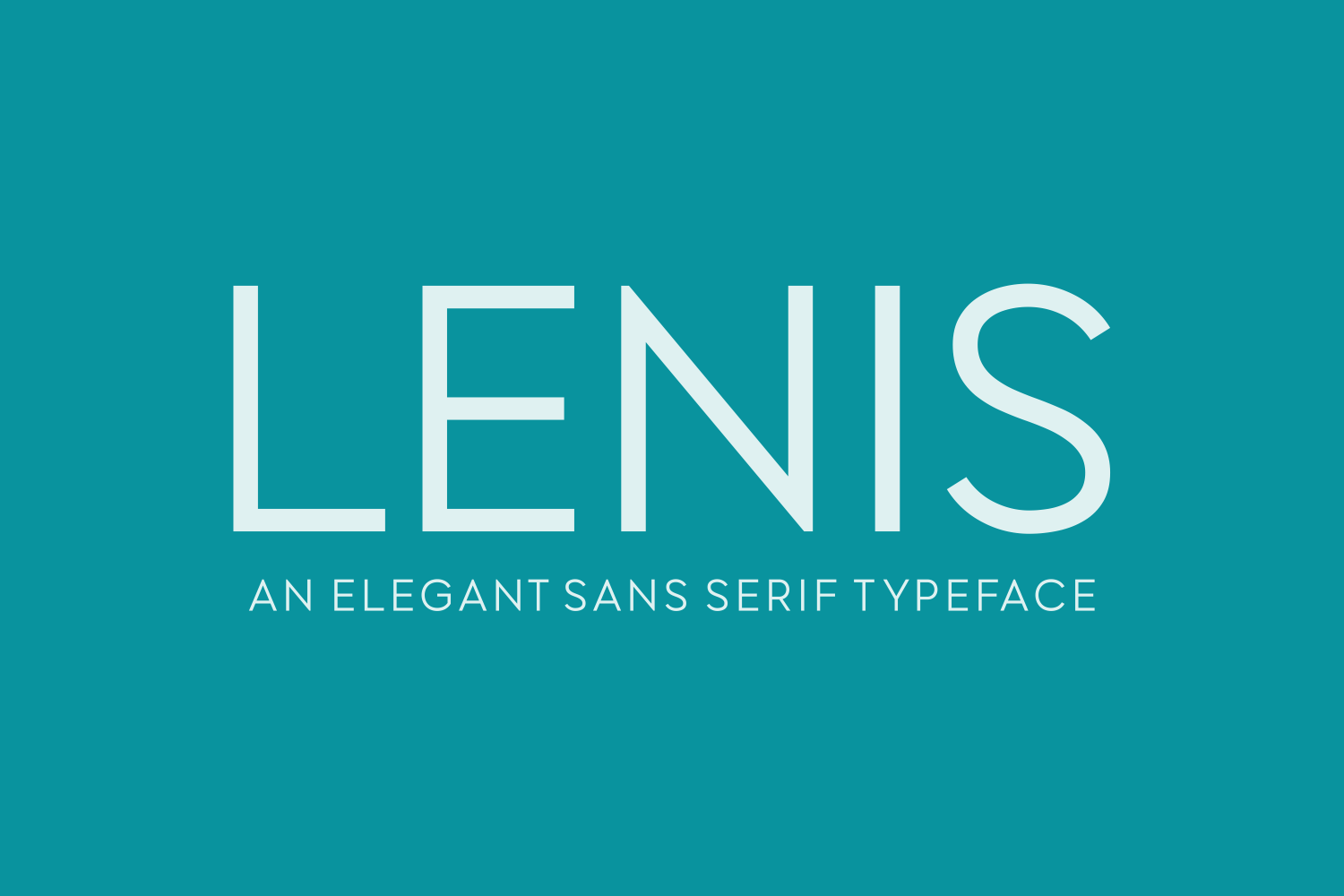 Print on Demand: Lenis Sans Serif Font By Creative Fabrica Fonts - Image 2
