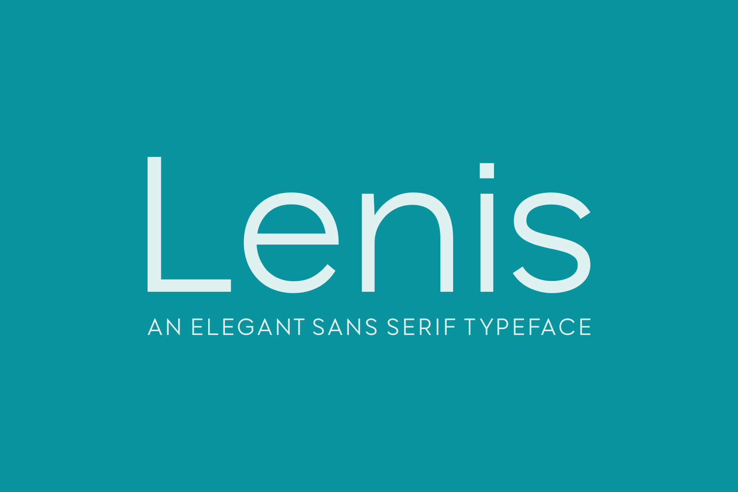 Print on Demand: Lenis Sans Serif Font By Creative Fabrica Fonts - Image 1