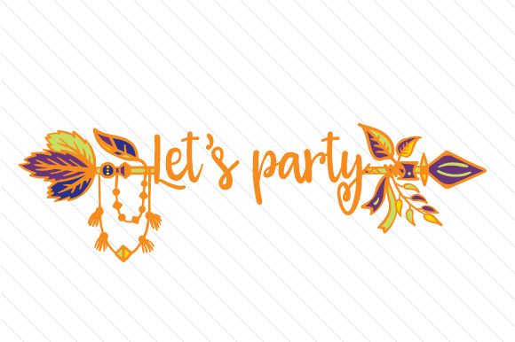 Let's Party Boho Craft Cut File By Creative Fabrica Crafts