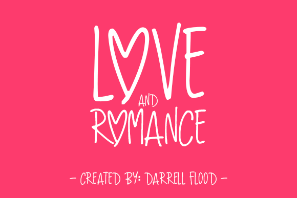 Print on Demand: Love and Romance Script & Handwritten Font By Dadiomouse
