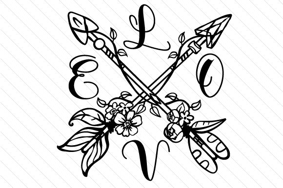 Download Free Love Cross Arrows Svg Cut File By Creative Fabrica Crafts for Cricut Explore, Silhouette and other cutting machines.