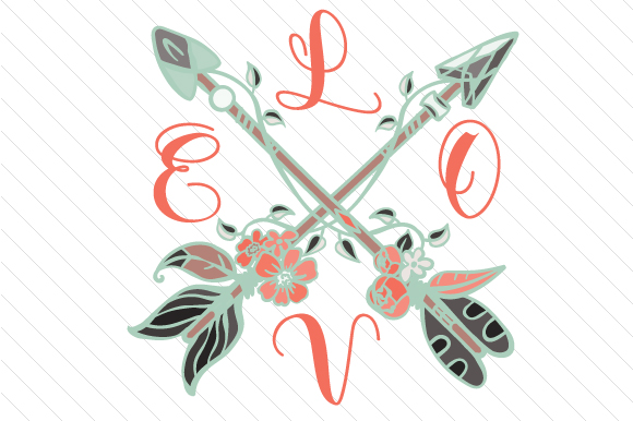 Love Cross Arrows Boho Craft Cut File By Creative Fabrica Crafts