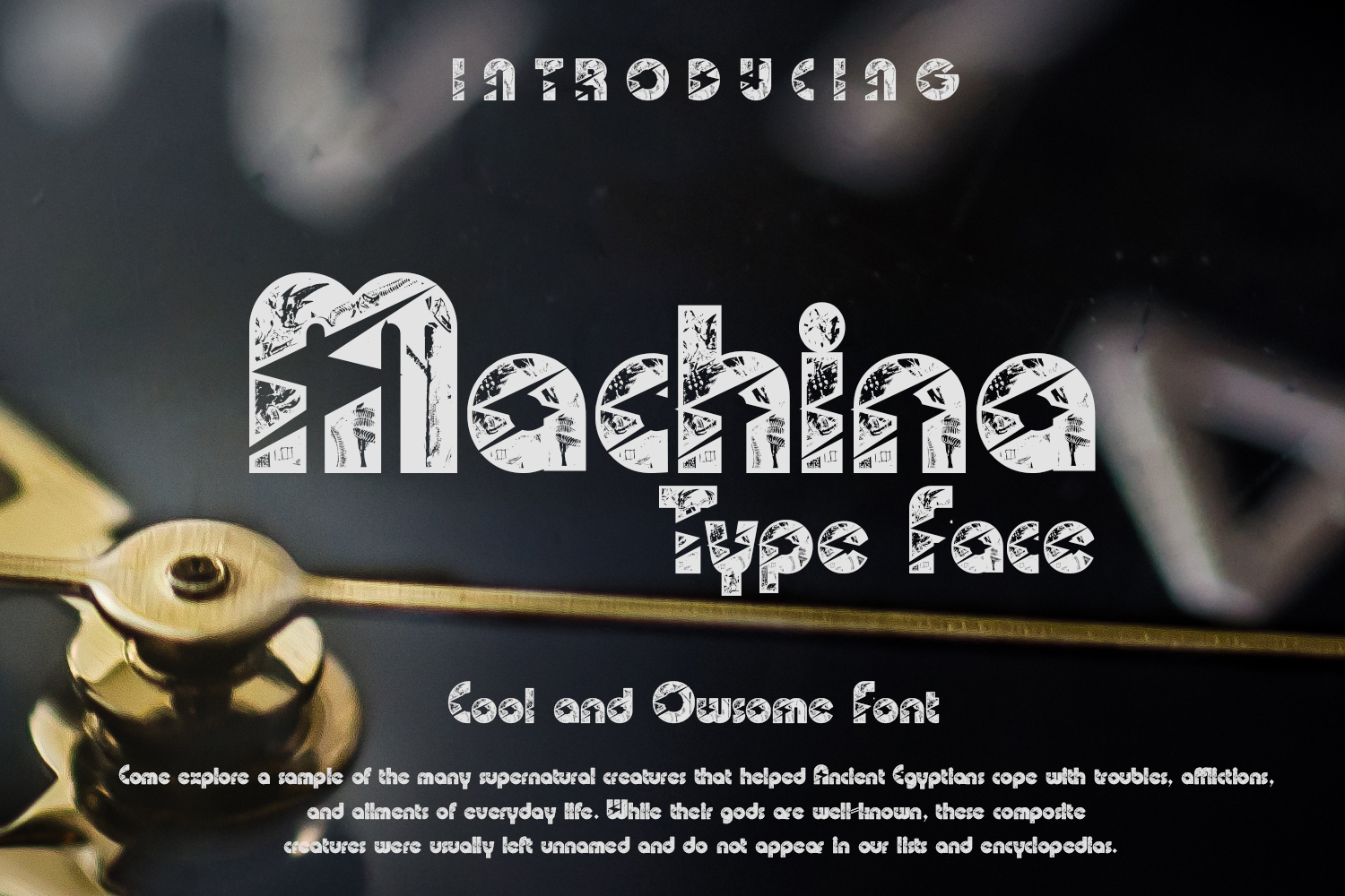 Print on Demand: Machina Display Font By Gblack Id