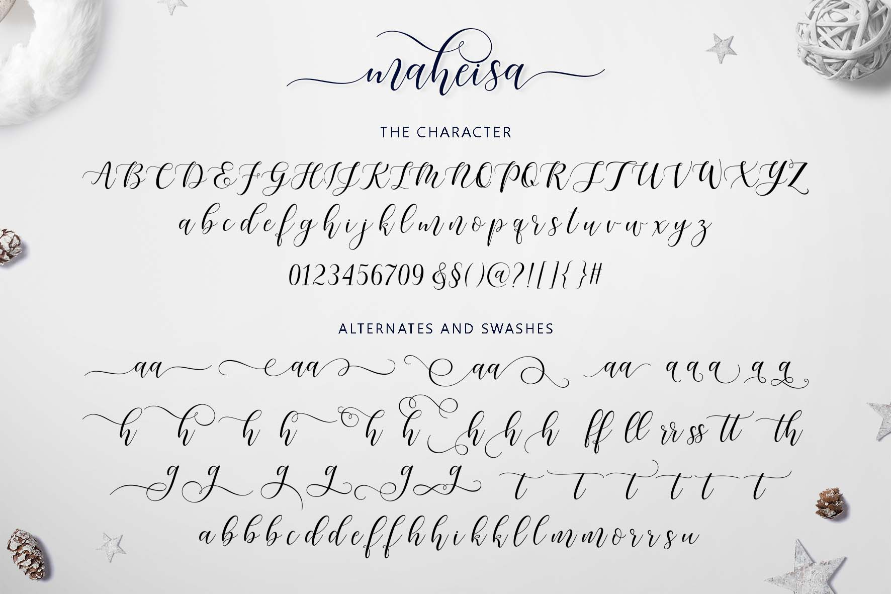 Print on Demand: Maheisa Script & Handwritten Font By Jamalodin - Image 9