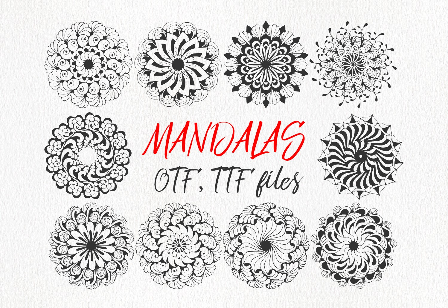 Print on Demand: Mandings Dingbats Font By Eva Barabasne Olasz