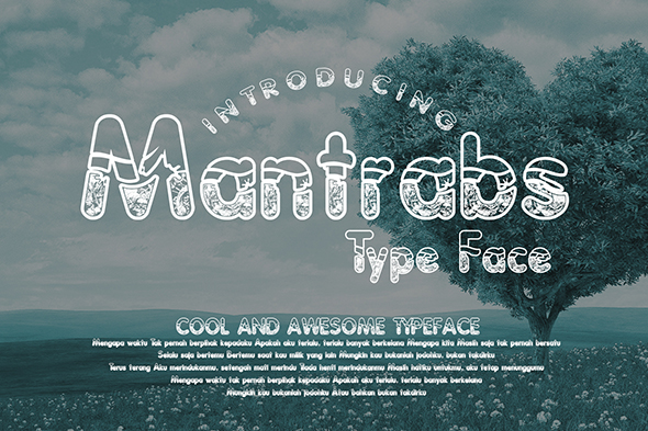 Print on Demand: Mantrabs Decorative Font By Gblack Id