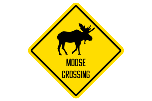 moose crossing sign svg cut file by creative fabrica crafts