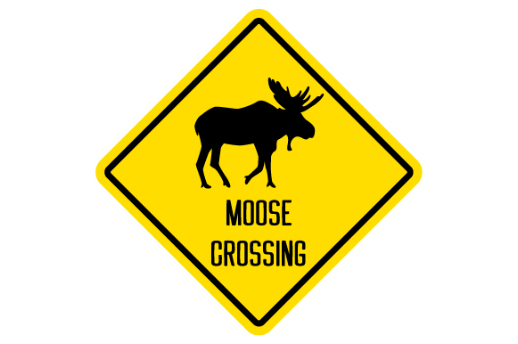 Download Free Moose Crossing Sign Svg Cut File By Creative Fabrica Crafts for Cricut Explore, Silhouette and other cutting machines.