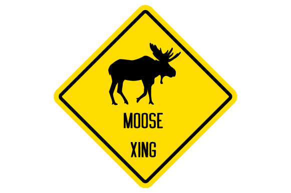 Moose Xing Sign Svg Cut File By Creative Fabrica Crafts
