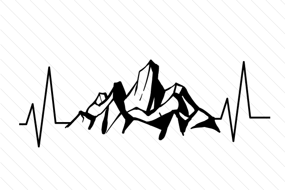 Download Free Mountains Heartbeat Svg Cut File By Creative Fabrica Crafts for Cricut Explore, Silhouette and other cutting machines.