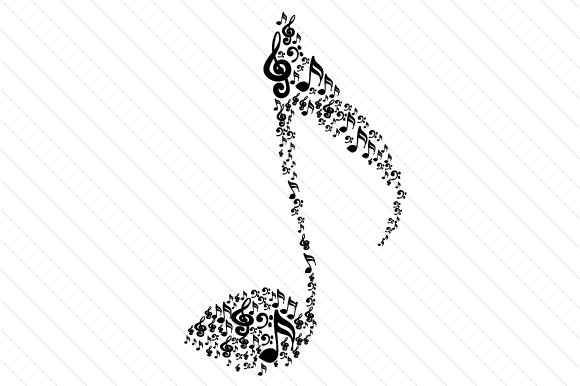 Musical Note Music Craft Cut File By Creative Fabrica Crafts - Image 2