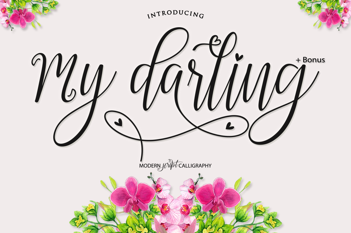 Print on Demand: My Darling Script & Handwritten Font By Bexx Type
