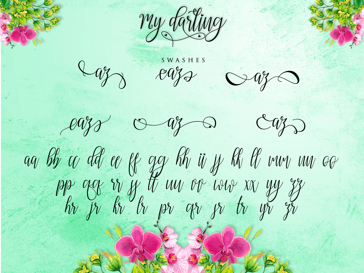 Download Free My Darling Font By Bexx Type Creative Fabrica for Cricut Explore, Silhouette and other cutting machines.