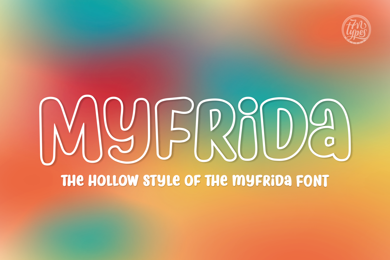Print on Demand: Myfrida Hollow Script & Handwritten Font By Situjuh