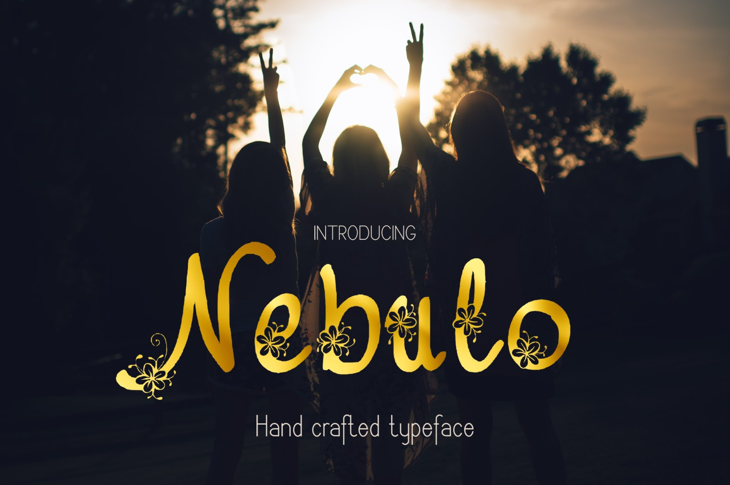Print on Demand: Nebulo Decorative Font By Eva Barabasne Olasz