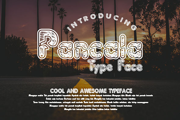 Pancala Font By Gblack Id Image 1