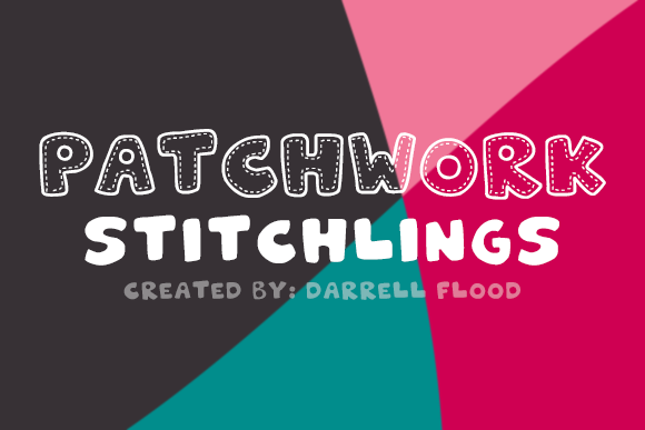 Patchwork Stitchlings Font By Dadiomouse