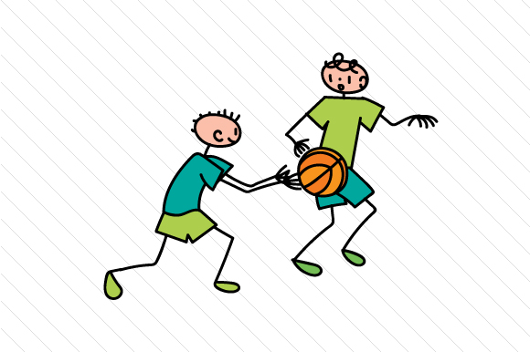 Playing Basketball Stick Figures Craft Cut File By Creative Fabrica Crafts