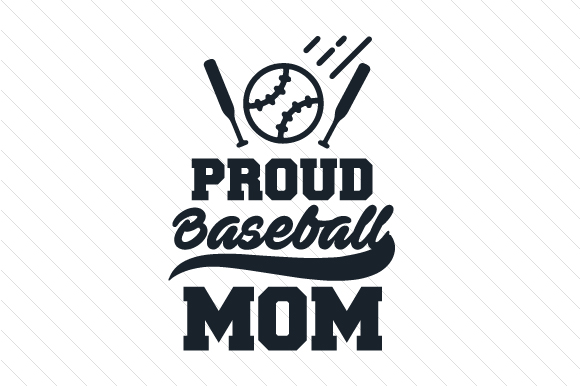Proud Baseball Mom Sports Craft Cut File By Creative Fabrica Crafts - Image 1