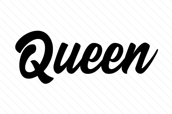 Queen Word Art Craft Cut File By Creative Fabrica Crafts