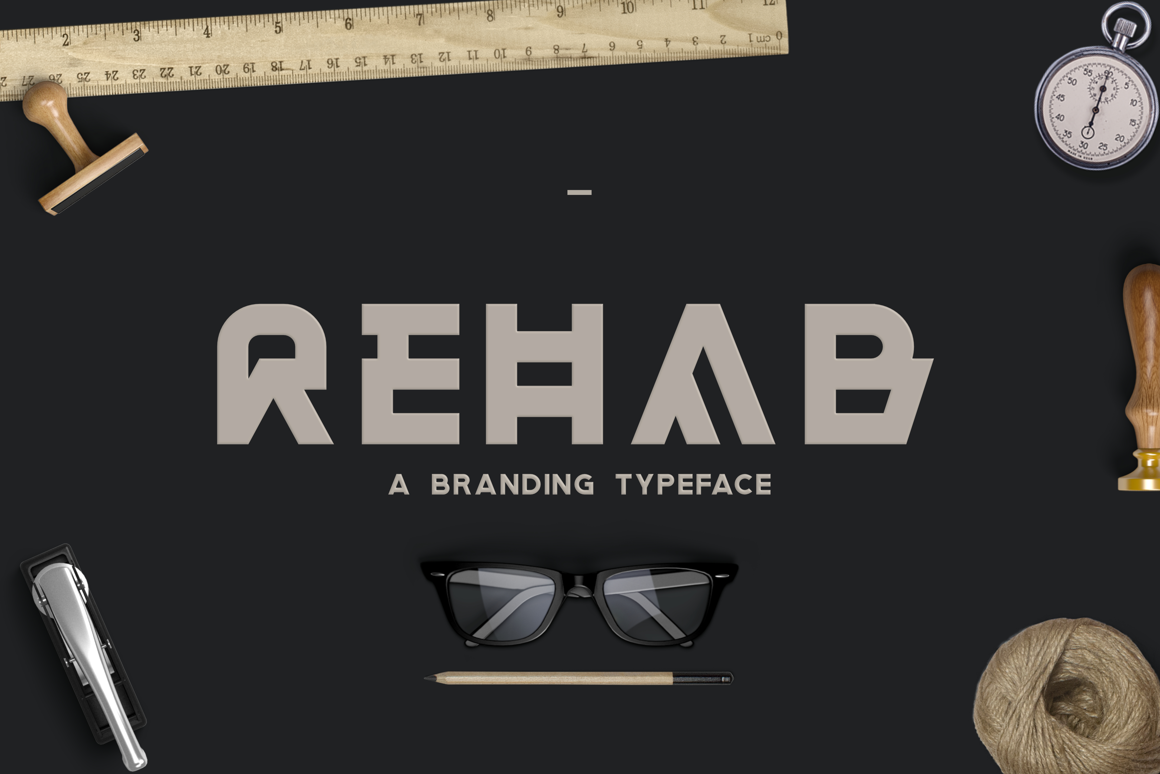 Print on Demand: Rehab Display Font By Sameeh Media