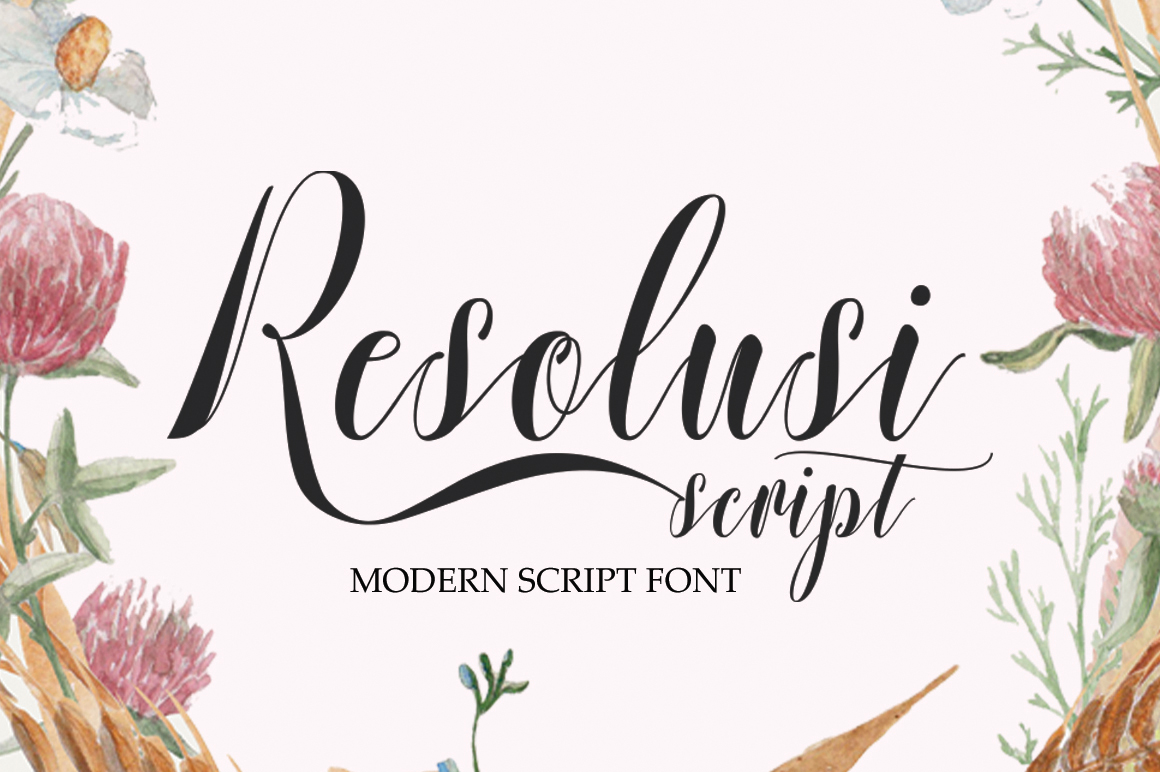 Print on Demand: Resolusi Script Script & Handwritten Font By Cooldesignlab