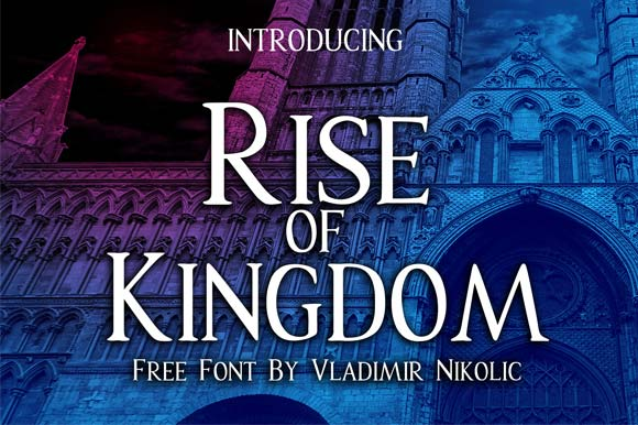 Print on Demand: Rise of Kingdom Font By Creative Fabrica Freebies