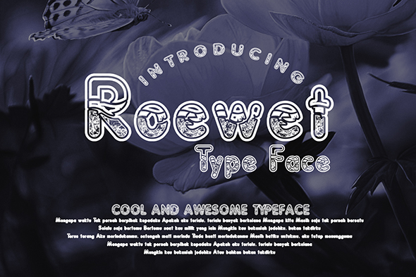Print on Demand: Roewet Decorative Font By Gblack Id