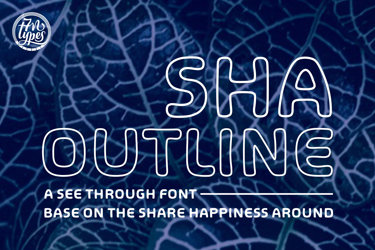 Print on Demand: SHA Outline Sans Serif Font By Situjuh