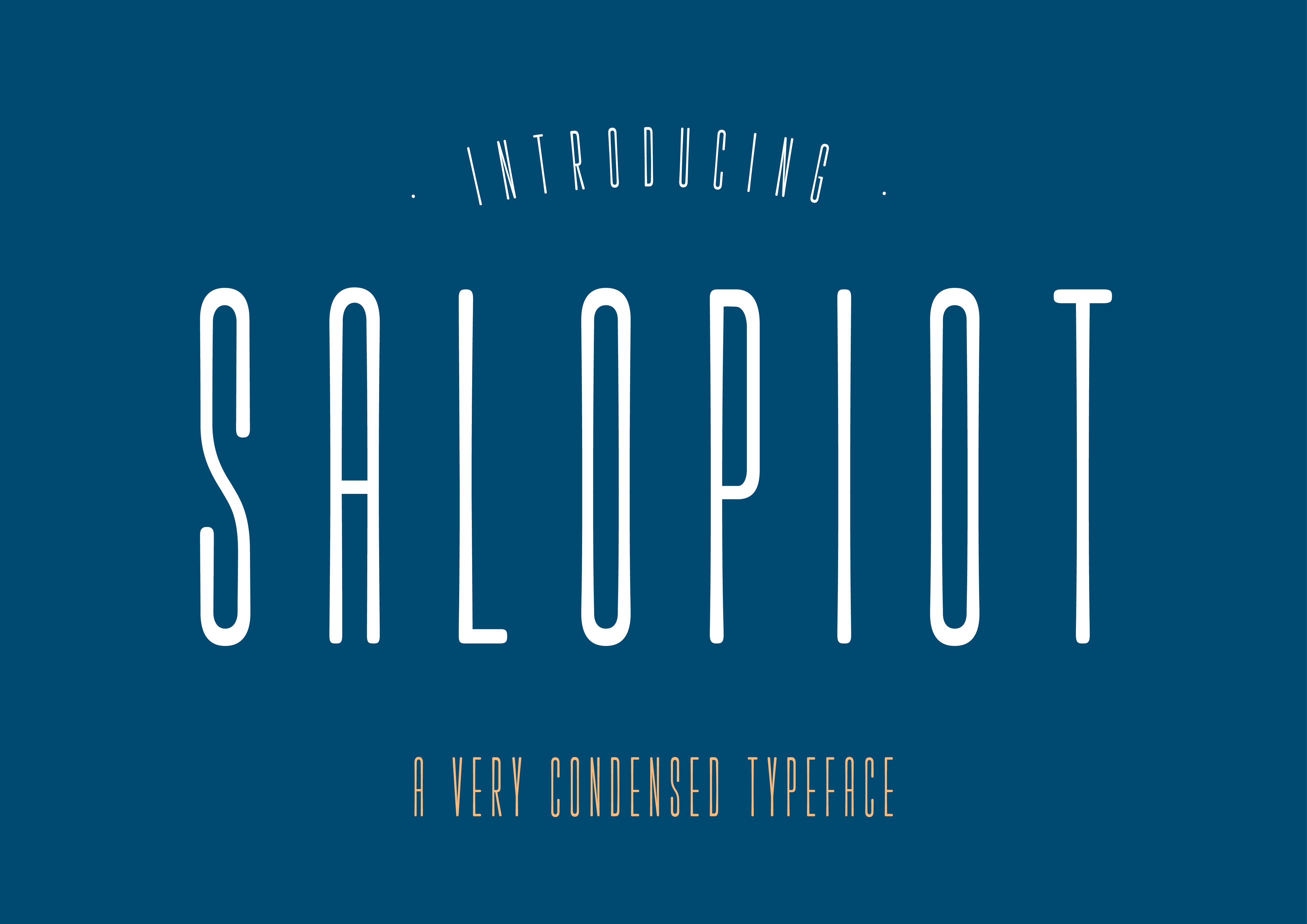 Print on Demand: Salopiot Sans Serif Font By Alan Hayward - Image 1