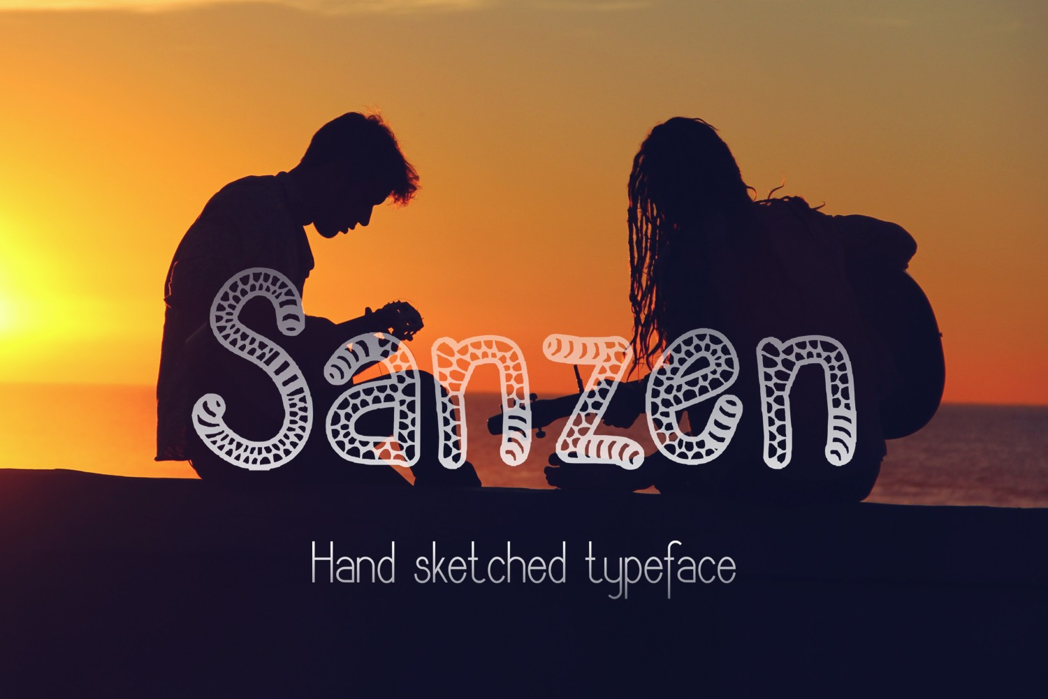 Sanzen Decorative Font By Eva Barabasne Olasz