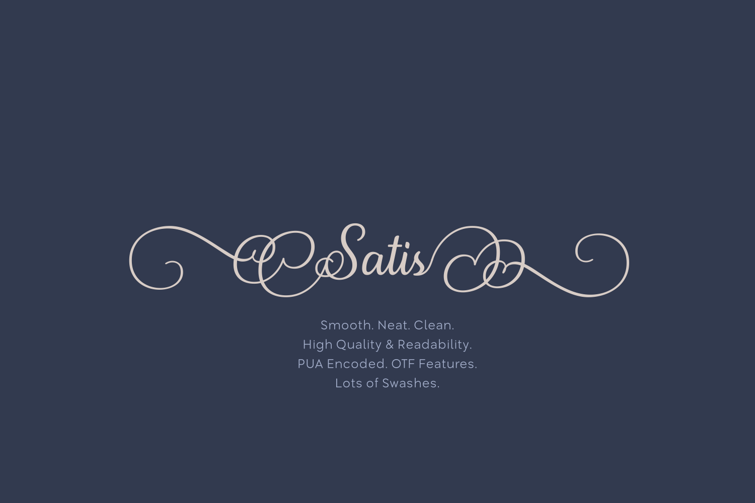 Print on Demand: Satis Script & Handwritten Font By Creative Fabrica Fonts - Image 1
