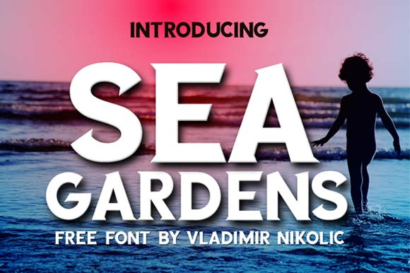 Print on Demand: Sea Gardens Font By Creative Fabrica Freebies