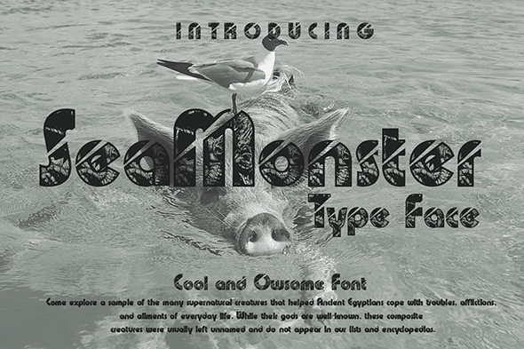 Print on Demand: SeaMonster Display Font By Gblack Id