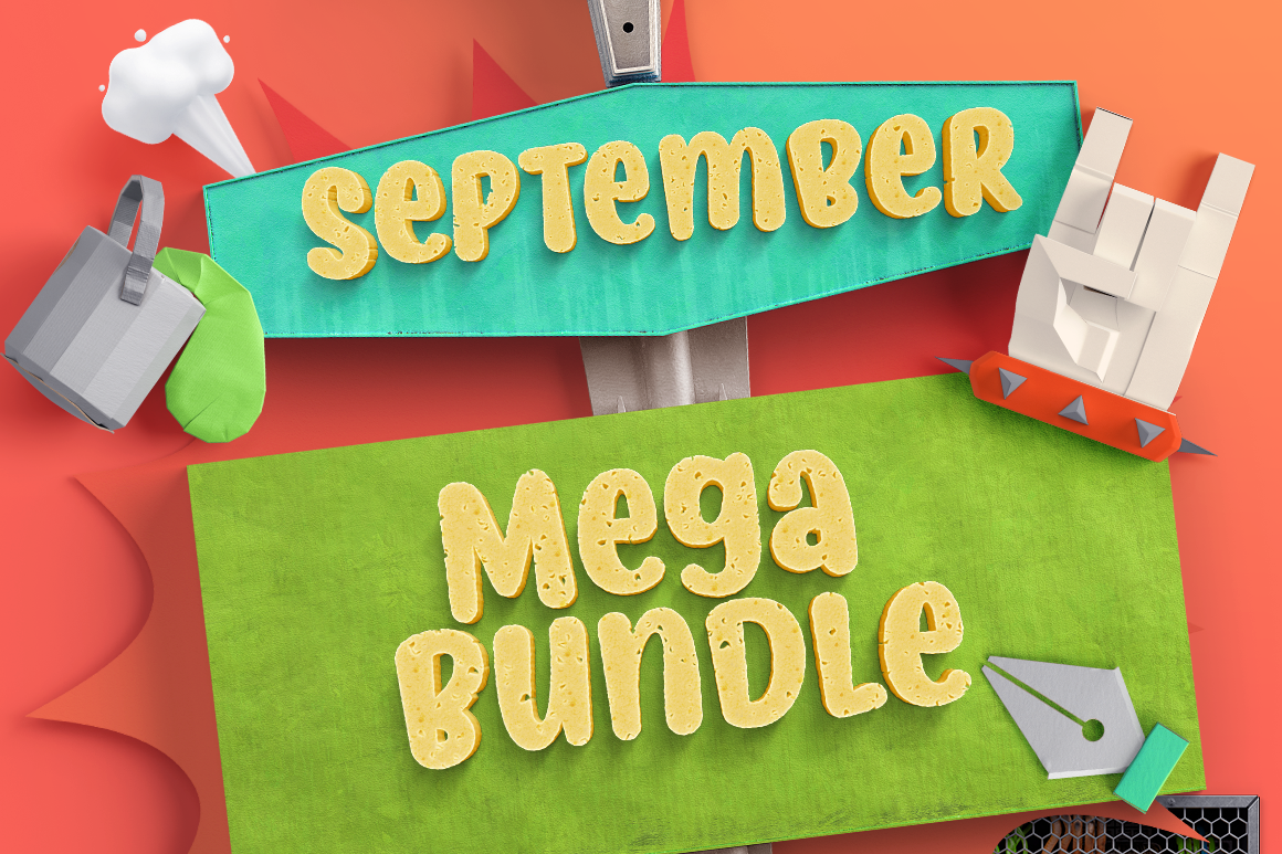 Download Free The September Mega Bundle Bundle Creative Fabrica for Cricut Explore, Silhouette and other cutting machines.