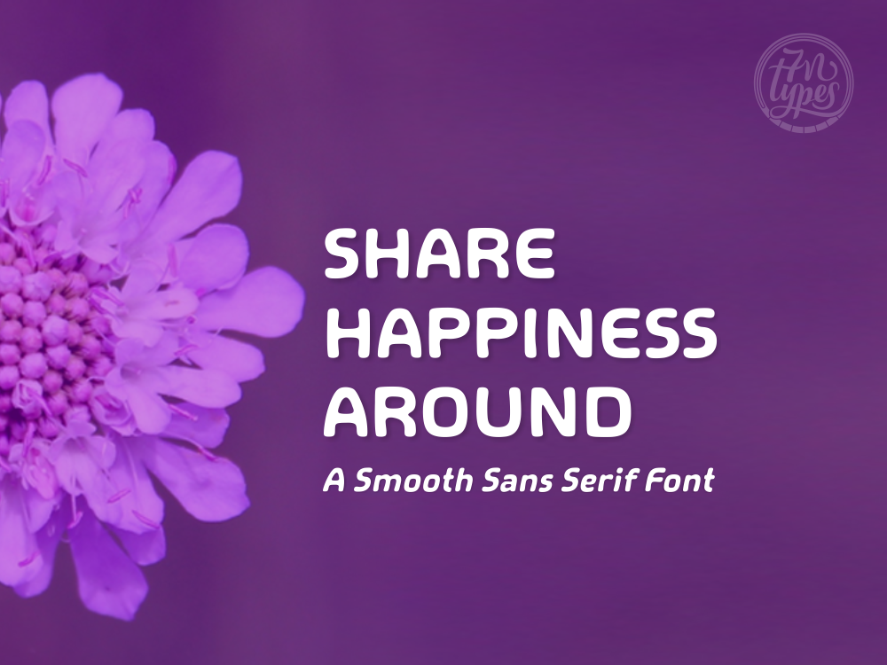 Print on Demand: Share Happiness Around Sans Serif Font By Situjuh
