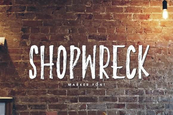 Print on Demand: Shopwreck Display Font By Creativeqube Design